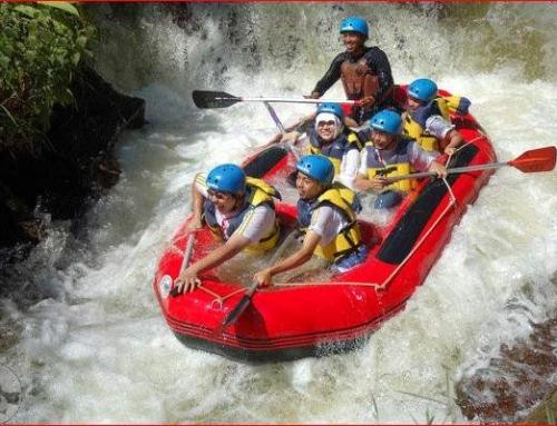 Serunya Arung Jeram di Sungai Cipunagara Subang